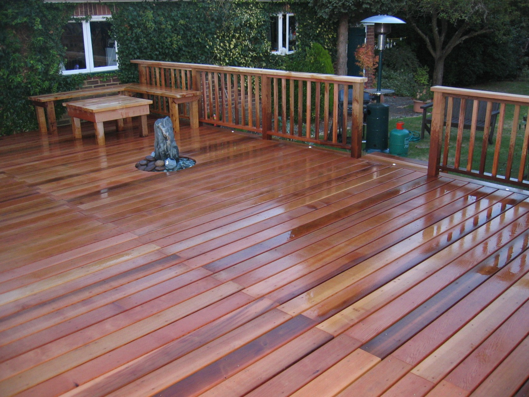 Western red cedar decks for Garden decking examples